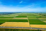 Nederland, Utrecht, Eemnes, 09-06-2016; Arkemheen-Eemland, polderlandschap tussen Eemnes en Spakenburg, een van de laatste open polderlandschappen in de Randstad. <br /> Polder landscape between Utrecht and Amsterdam.<br /> <br /> luchtfoto (toeslag op standard tarieven);<br /> aerial photo (additional fee required);<br /> copyright foto/photo Siebe Swart