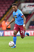 Scunthorpe United forward Ivan Toney (24) during the EFL Sky Bet League 1 match between Scunthorpe United and Chesterfield at Glanford Park, Scunthorpe, England on 17 April 2017. Photo by Ian Lyall.