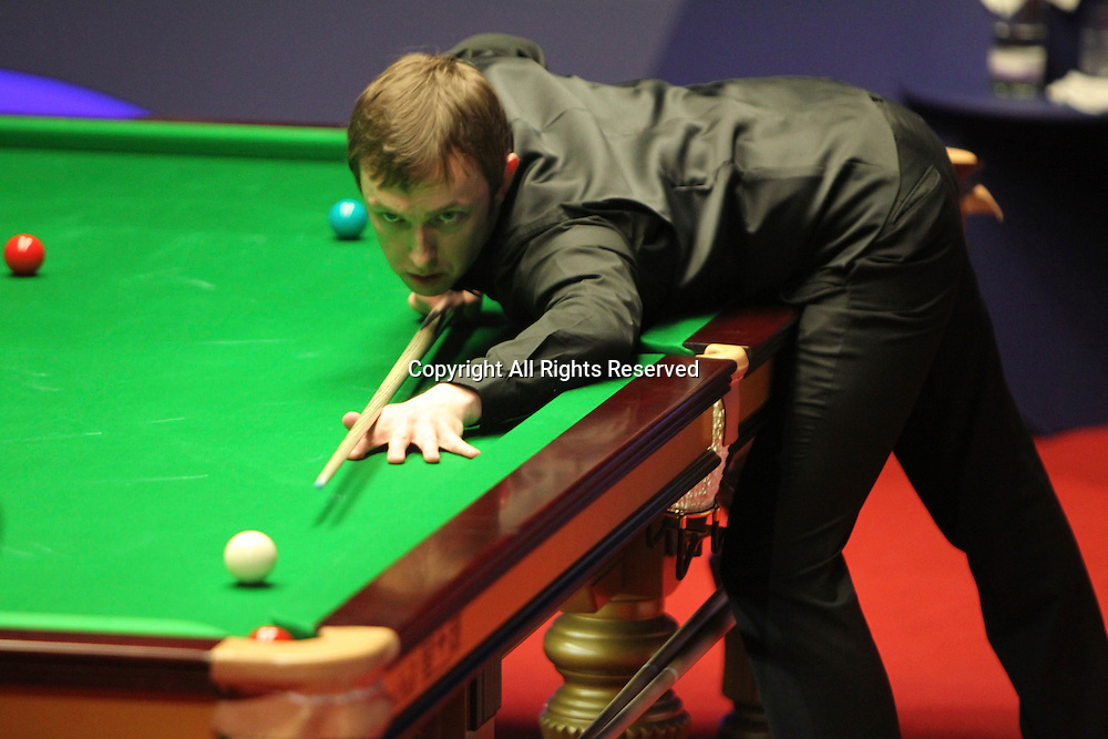 24.04.2012, Sheffield, England. Andrew Higginson in action during the World Snooker Championship from the Crucible Theatre.