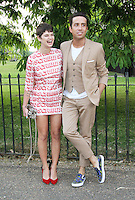 Nick Grimshaw; Pixie Geldof, The Serpentine Gallery summer party, Kensington Gardens London UK, 26 June 2013, (Photo by Richard Goldschmidt)