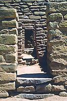 Doorways of the Far View Ruins on Chapman Mesa.  Mesa Verde National Park, Colorado.