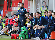 Chris Hughton during the Pre-Season Friendly match between Crawley Town and Brighton and Hove Albion at the Checkatrade.com Stadium, Crawley, England on 22 July 2015.
