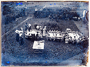 outdoors dinner at a nunnery run girls only school France 1900s