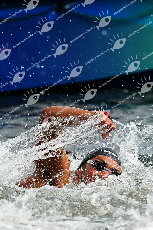 Valerio CLERI Italy<br /> Men's 10 Km Open Water Swimming<br /> Shanghai 20/7/2011 <br /> 14th FINA World Championships<br /> Foto Andrea Staccioli Insidefoto