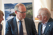 14/05/2017  Repro Free:  Minister Simon Coveney was in Kinvara   to officially open the new wastewater treatment plant which was constructed following an investment of €5.1 million by Irish Water. He met Local man Joe Curley. Photo:Andrew Downes, xposure