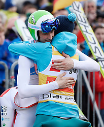 21.03.2014, Planica, Ratece, SLO, FIS Weltcup Ski Sprung, Planica, Grossschanze Herren Einzel, im Bild Kamil Stoch, Peter Prevc // Kamil Stoch, Peter Prevc during the mens individual large Hill of the FIS Ski jumping Worldcup Cup finals at Planica in Ratece, Slovenia on 2014/03/21. EXPA Pictures © 2014, PhotoCredit: EXPA/ Newspix/ Irek Dorozanski<br /> <br /> *****ATTENTION - for AUT, SLO, CRO, SRB, BIH, MAZ, TUR, SUI, SWE only*****