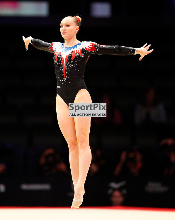 2015 Artistic Gymnastics World Championships being held in Glasgow from 23rd October to 1st November 2015...Marine Brevet (France) competing in the Floor Exercise competition...(c) STEPHEN LAWSON | SportPix.org.uk