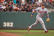 New York Mets shortstop Asdrubal Cabrera (13) chases down a ball against the San Francisco Giants at AT&T Park in San Francisco, Calif., on August 21, 2016. (Stan Olszewski/Special to S.F. Examiner)