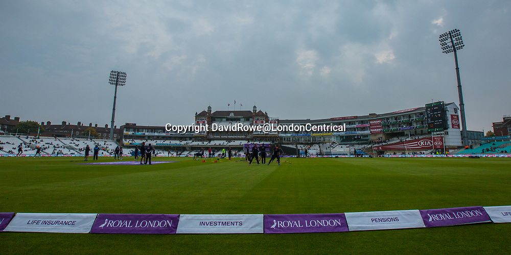London,UK. 27 September The England squad warm up ahed of the game. England v West Indies. In the fourth Royal London One Day International at the Kia