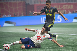 August 1, 2018 - Atlanta, Georgia, United States - MLS All-Star midfielder EZEQUIEL BARCO slides to save the ball during the 2018 MLS All-Star Game at Mercedes-Benz Stadium in Atlanta, Georgia.   Juventus F.C. defeats  MLS All-Stars defeat  1 to 1  (Credit Image: © Mark Smith via ZUMA Wire)