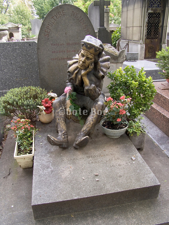Grave of modern dancer and choreographer Vaslav Nijinsky (1890-1950) Cimetiere Montmartre Paris