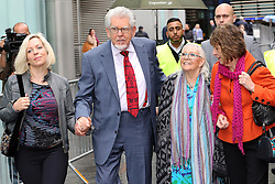 Rolf Harris arriving with his family at Southwark Crown Court in  London, Thursday, 8th May 2014. Picture by Stephen Lock / i-Images