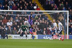 Leon Legge of Port Vale heads the ball clear - Mandatory by-line: JMP - 04/05/2019 - FOOTBALL - Gigg Lane - Bury, England - Bury v Port Vale - Sky Bet League Two