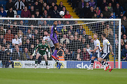 Leon Legge of Port Vale heads the ball clear - Mandatory by-line: JMP - 04/05/2019 - FOOTBALL - Gigg Lane - Bury, England - Bury v Port Vale - Sky Bet League Two