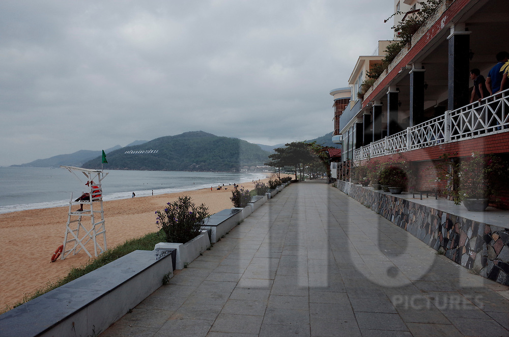 Waterfront during off season in Quy Nhon, Vietnam, Southeast Asia