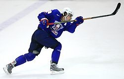 Anze Kopitar of Slovenia at ice-hockey game Slovenia vs Slovakia at second game in  Relegation  Round (group G) of IIHF WC 2008 in Halifax, on May 10, 2008 in Metro Center, Halifax, Nova Scotia, Canada. Slovakia won after penalty shots 4:3.  (Photo by Vid Ponikvar / Sportal Images)