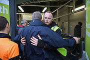 Security staff frisk supporters before and carry out searches the Sky Bet Championship match between Brighton and Hove Albion and Birmingham City at the American Express Community Stadium, Brighton and Hove, England on 28 November 2015. Photo by Phil Duncan.