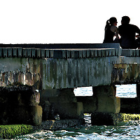 Young Couple in Love in Bradenton Beach, Florida<br />