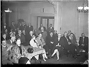 12/11/1959<br /> 11/12/1959<br /> 12 November 1959<br /> Formation of Dublin Branch of West Cork Development Association at Jury's Hotel, Dublin. Picture shows some of the large attendance of interested West Corkonians attending the meeting.