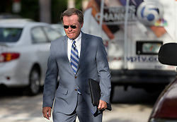 August 9, 2017 - Palm Beach Gardens, Florida, U.S. - Tiger Woods attorney Douglas Duncan arrives at the North County Courthouse in Palm Beach Gardens, Florida on August 9, 2017. Tiger Woods did not appear at hearing for his DUI case. (Credit Image: © Allen Eyestone/The Palm Beach Post via ZUMA Wire)