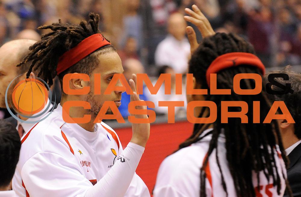 DESCRIZIONE : Milano Campionato Lega A 2013-14 EA7 Olimpia Armani Milano Enel Brindisi<br /> GIOCATORE :  Daniel Hackett<br /> SQUADRA : EA7 Olimpia Armani Milano <br /> EVENTO : Campionato Lega A 2013-14<br /> GARA :  EA7 Olimpia Armani Milano Enel Brindisi<br /> DATA : 19/01/2014<br /> CATEGORIA : Pre Game <br /> SPORT : Pallacanestro<br /> AUTORE : Agenzia Ciamillo-Castoria/A.Giberti<br /> Galleria : Campionato Lega Basket A 2013-14<br /> Fotonotizia : EA7 Olimpia Armani Milano Enel Brindisi<br /> Predefinita :