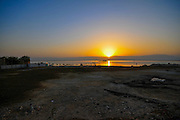 Sun rises over the Dead Sea, Israel