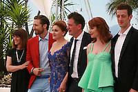 Producer Ankica Juric Tilic, actor Goran Markovic, actress Nives Ivankovic, director Dalibor Matanic,  actress Tihana Lazovic and  actor Dado Cosic at the Zvizdan (The High Sun) film photo call at the 68th Cannes Film Festival Sunday 17th May 2015, Cannes, France.