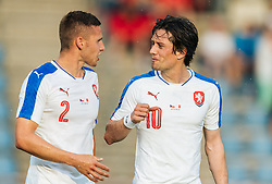 27.05.2016, Grenzlandstadion, Kufstein, AUT, Testspiel, Tschechien vs Malta, im Bild Pavel Kaderabek (CZE), Tomas Rosicky (CZE) // Pavel Kaderabek (CZE), Tomas Rosicky (CZE) during the International Friendly Match between Czech Republic and Malta at the Grenzlandstadion in Kufstein, Austria on 2016/05/27. EXPA Pictures © 2016, PhotoCredit: EXPA/ JFK