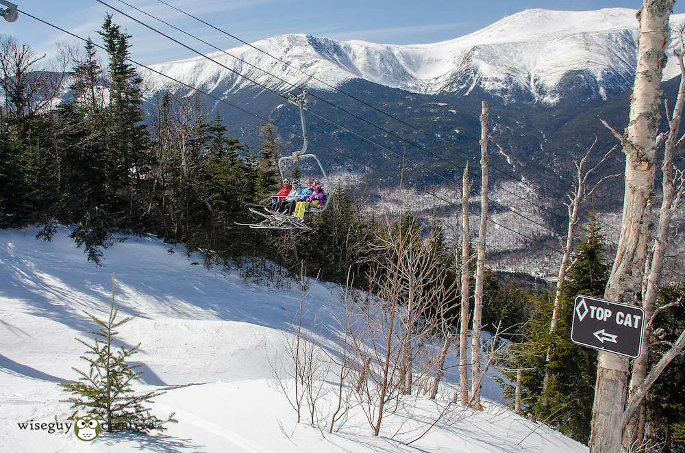 Wildcat Ski Area with views of Tuckerman Ravine