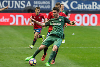 Emeric Laporte of Athletic Club during the match of  La Liga between Club Atletico Osasuna and Athletic Club Bilbao at El Sadar Stadium  in Pamplona, Spain. April 01, 2017. (ALTERPHOTOS / Rodrigo Jimenez)