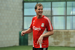 LIVERPOOL, ENGLAND - Tuesday, May 12, 2009: Ex-Liverpool player Gary Gillespie during a training session at Melwood as the players prepare for the Hillsborough Memorial Game in aid of the Marina Dalglish Appeal which will be staged at Anfield on May 14. (Photo by Dave Kendall/Propaganda)