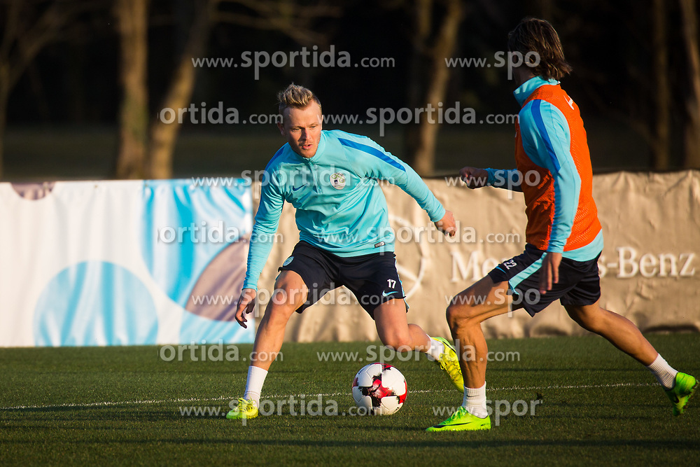 Training of Slovenian national football team before WC 2018 qualifying match vs Scotland, on March 20th, 2017, Brdo pri Kranju, Kranj, Slovenia. Photo by Ziga Zupan / Sportida