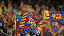 Barcelona flags - Photo mandatory by-line: Dougie Allward/JMP - Mobile: 07966 386802 - 18/03/2015 - SPORT - Football - Barcelona - Nou Camp - Barcelona v Manchester City - UEFA Champions League - Round 16 - Second Leg