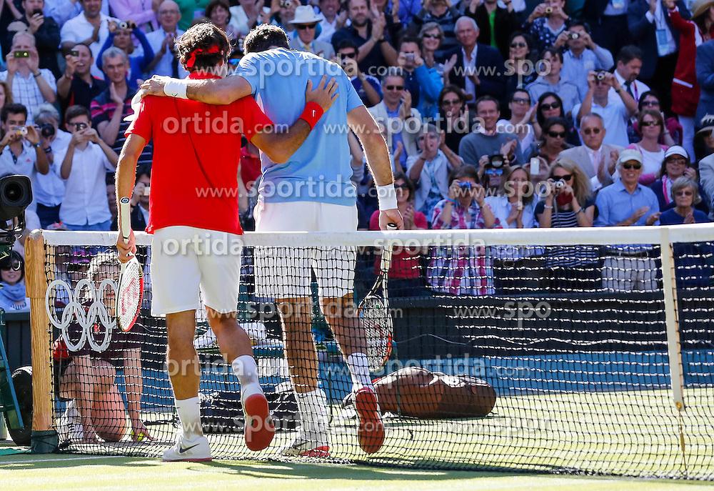 Olympic Games London 2012, Tennis men.Roger Federer (SUI) and Juan Martin DEL PORTO.© pixathlon