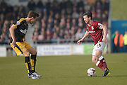 Northampton Town Defender David Buchanan  during the Sky Bet League 2 match between Northampton Town and Cambridge United at Sixfields Stadium, Northampton, England on 12 March 2016. Photo by Dennis Goodwin.