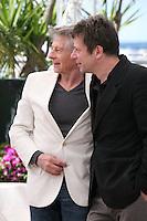 Director Roman Polanski and actor Mathieu Amalric at Venus in Fur - La Venus A La Fourrure Photocall Cannes Film Festival On Saturday 26th May May 2013