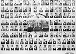 1954 Yale Divinity School Senior Portrait Class Group Photograph