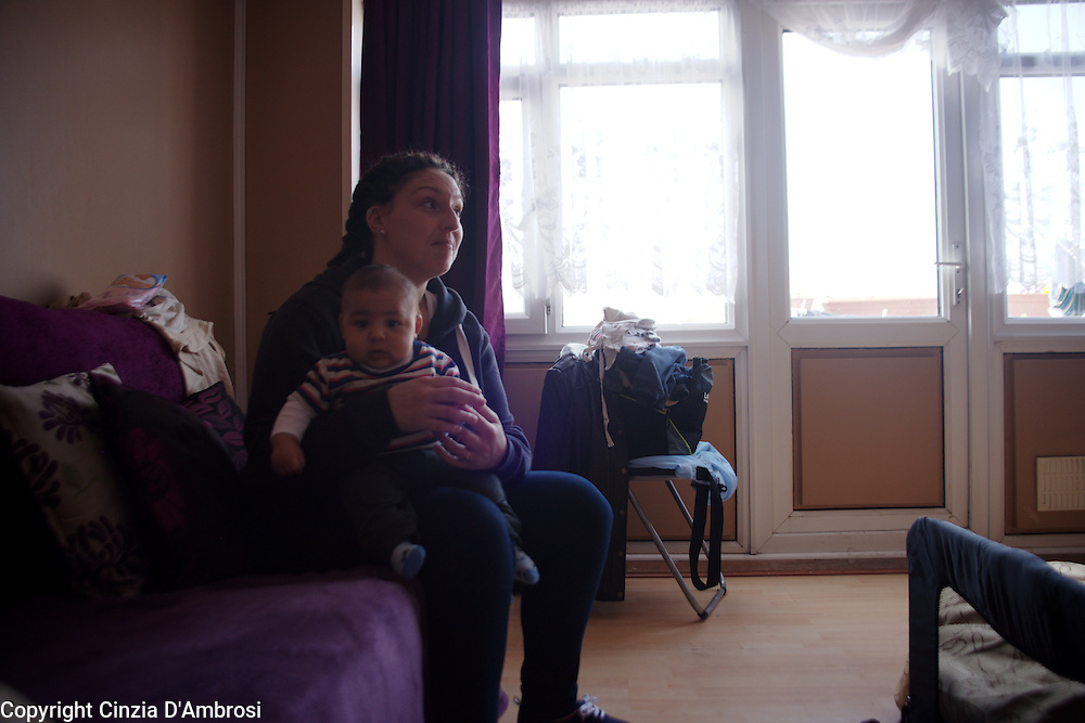 UK, London, June-August 2014 Samantha is a single mum of three children that became homeless after her landlord gave her an eviction notice. The council of Newham did not fulfill his duty to house her. She become homeless. With no-where to go, Samantha has relied on friends and family  for support, coach surfing in various homes.
