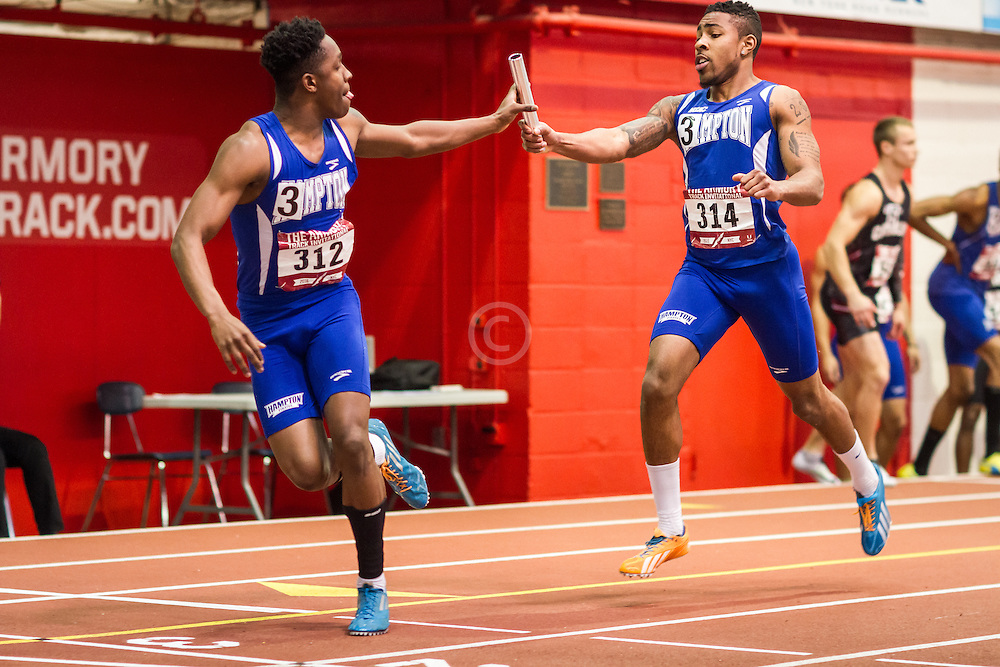 Hampton, mens 4x200 relay college, Armory Track Invitational Indoor,
