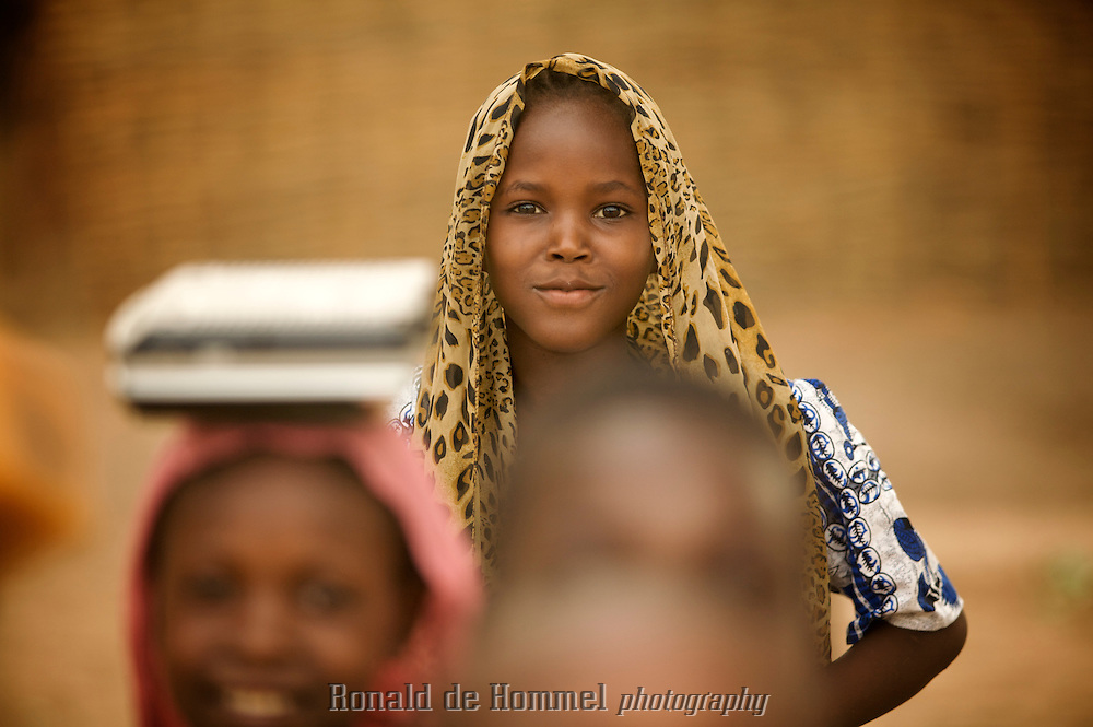 Portrait of child in the Central African Republic.