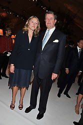 SARAH GOODBODY and LORD CHARLES SPENCER-CHURCHILL at a dinner hosted by Cartier following the following the opening of the Chelsea Flower Show 2012 held at Battersea Power Station, London on 21st May 2012.