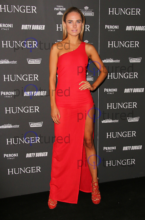 Kimberley Garner, Hunger Magazine: Issue 7 - launch party, Annroy Gallery, London UK, 12 September 2014, Photo by Richard Goldschmidt