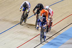 March 2, 2018 - Apeldoorn, Netherlands - French Morgan Kneisky competes during the men's points race final during the UCI Track Cycling World Championships in Apeldoorn on March 2, 2018. (Credit Image: © Foto Olimpik/NurPhoto via ZUMA Press)