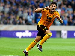 Ruben Neves of Wolverhampton Wanderers levels the scoreline 1-1  - Mandatory by-line: Nizaam Jones/JMP - 11/08/2018/ - FOOTBALL -Molineux  - Wolverhampton, England - Wolverhampton Wanderers v Everton - Premier League