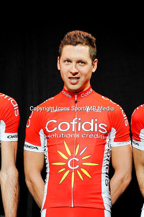 Julien SIMON - 23/01/2015 - presentation de l equipe Cofidis <br /> photos : Gautier Demouveaux / Icon Sport