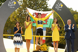 July 29, 2018 - Paris Champs-Elysees, France - PARIS CHAMPS-ELYSEES, FRANCE - JULY 29 :  THOMAS Geraint (GBR) of Team SKY pictured on the podium during stage 21 of the 105th edition of the 2018 Tour de France cycling race, a stage of 116 kms between Houilles and Paris Champs-Elysees on July 29, 2018 in Paris Champs-Elysees, France, 29/07/18  (Credit Image: © Panoramic via ZUMA Press)