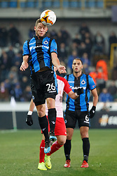 February 14, 2019 - Brugge, BELGIUM - Club's Mats Rits fights for the ball during a soccer game between Belgian team Club Brugge KV and Austrian club FC Red Bull Salzburg, the first leg of the 1/16 finals (round of 32) in the Europa League competition, Thursday 14 February 2019 in Brugge. BELGA PHOTO KURT DESPLENTER (Credit Image: © Kurt Desplenter/Belga via ZUMA Press)