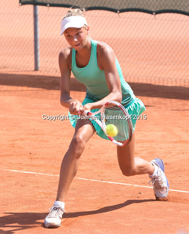 Noelle Frenzel (GER), Tennis Europe-M&uuml;nchen Junior Open GS14<br /> <br /> Tennis - Audi GW plus Zentrum M&uuml;nchen Junior Open 2015 - ITF Junior Tour -  SC Eching - Eching - Bayern - Germany  - 12 August 2015. <br /> &copy; Juergen Hasenkopf