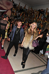 MARY CHARTERIS and ROBBIE FURZE at the Mulberry Spring/Summer 2012 - London Fashion Week afterparty held at Claridge's, Brook Street, London on 18th September 2011.