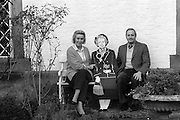 Neil and Christine Hamilton at home with their cardboard cut-out of Maggie Thatcher